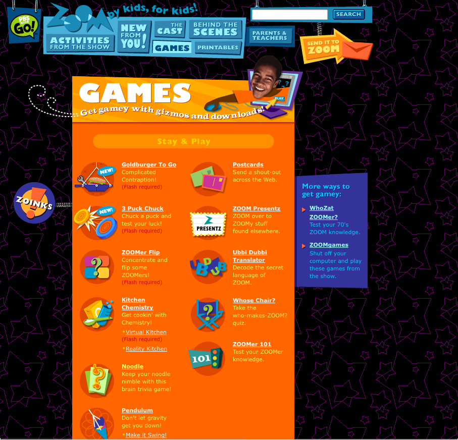 Ate Central Pbs Kids Zoom Games