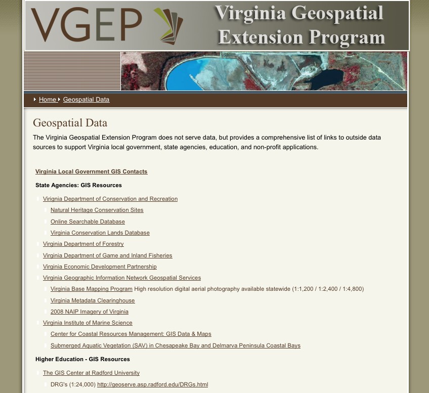 ATE Central - Virginia Geospatial Extension Program