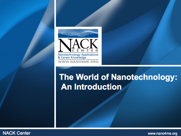 ATE Central - World of Nanotechnology: Introduction to