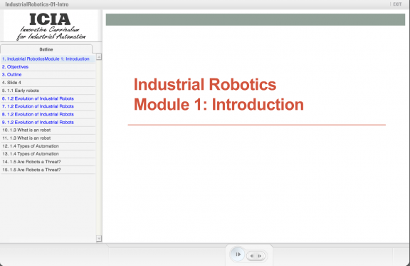 ATE Central - Industrial Robotics Module 1: Introduction